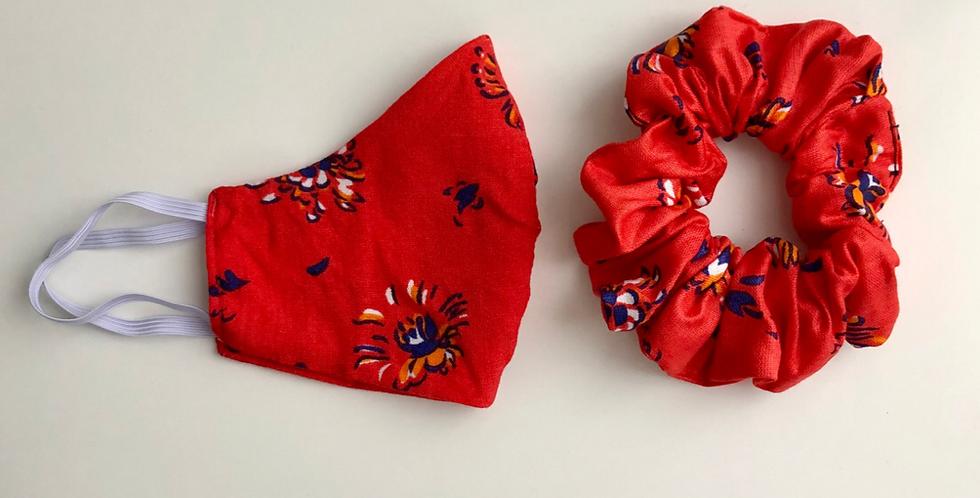 RED FLOWERS maszk szett