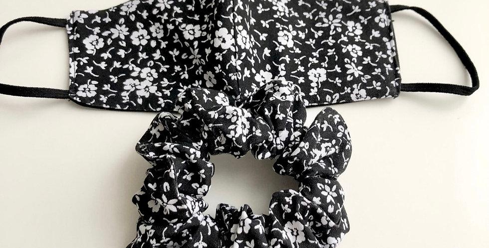 BLACK FLOWERS maszk szett