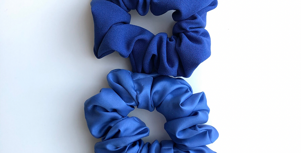 BLUE scrunchie szett