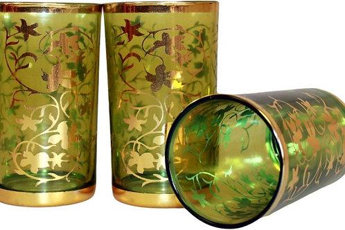 Morrocan glass/tealight holder green