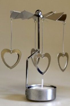 Moving shadows tealight holder - hearts