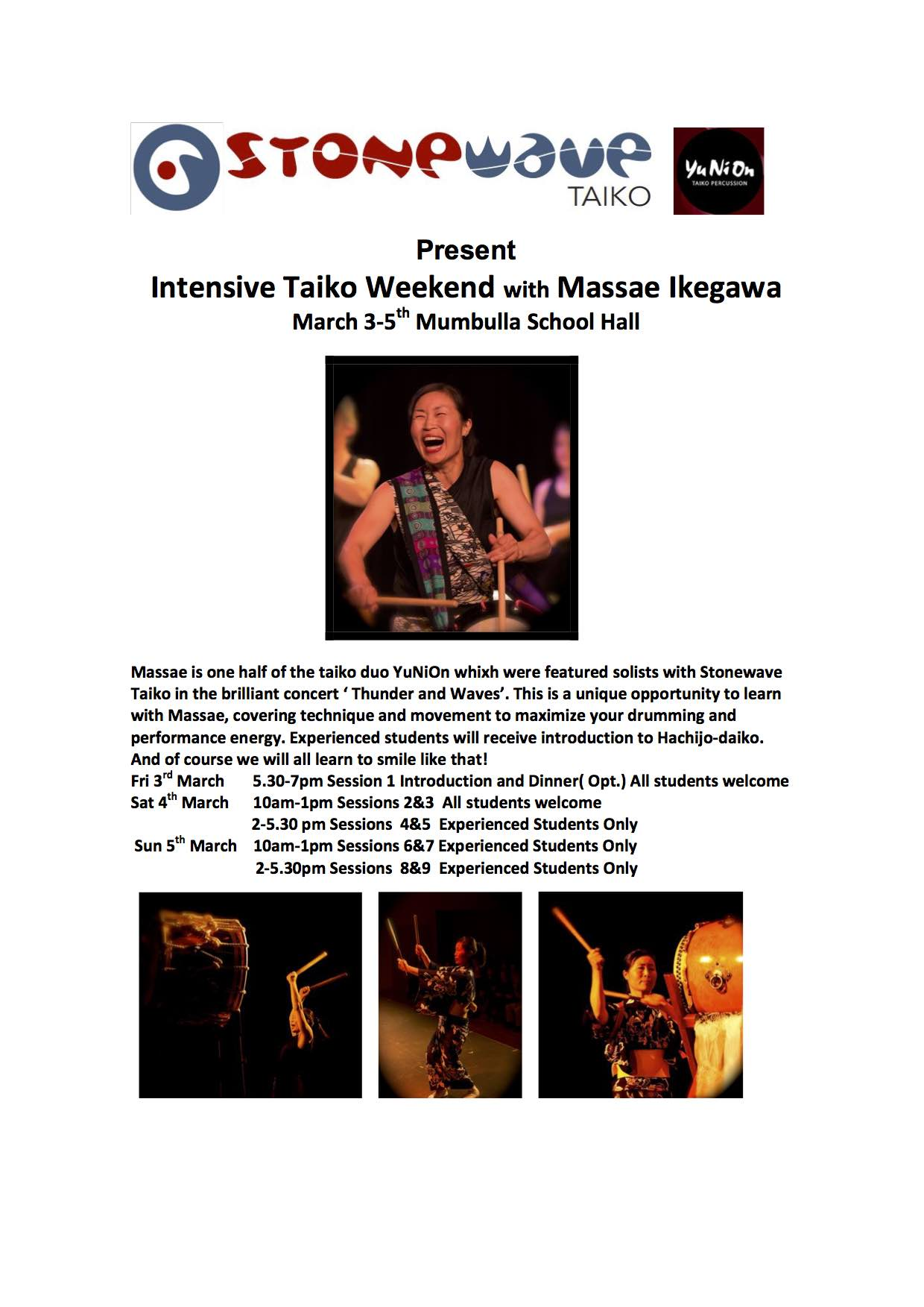 TAIKO WEEKEND IN BEGA