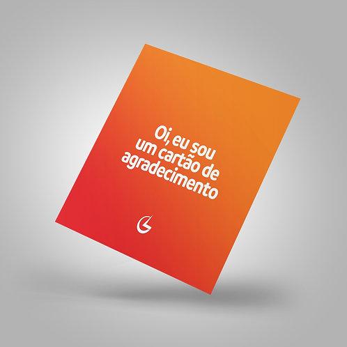 Cartão de  Agradecimento | 9x10cm