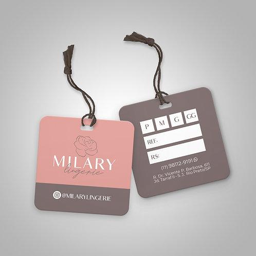 Mini tags 4X5cm | Verniz Localizado Frente