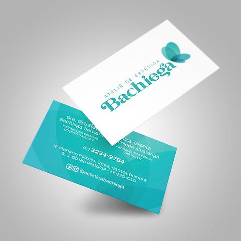 Cartão de Visita  |  Lam. fosca frente e verniz localiz. frente