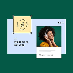 Homepage of a Blog website built on Wix