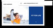 Custom domain name for an online fitness business.