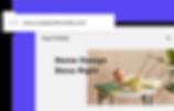 Custom blog domain name for home decor website.
