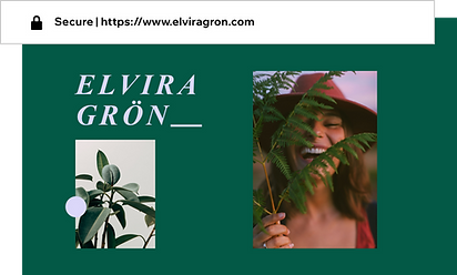 Custom domain for portfolio website called Elvira Gron
