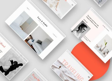 Exemplos de templates gratuitos feitos por designers