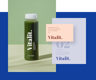 A sleek clear bottle with a Wix designed logo reading Vitalit.
