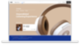 An ecommerce website selling headphones displayed on both desktop and mobile versions