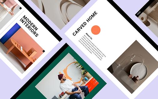 Interior designer business website