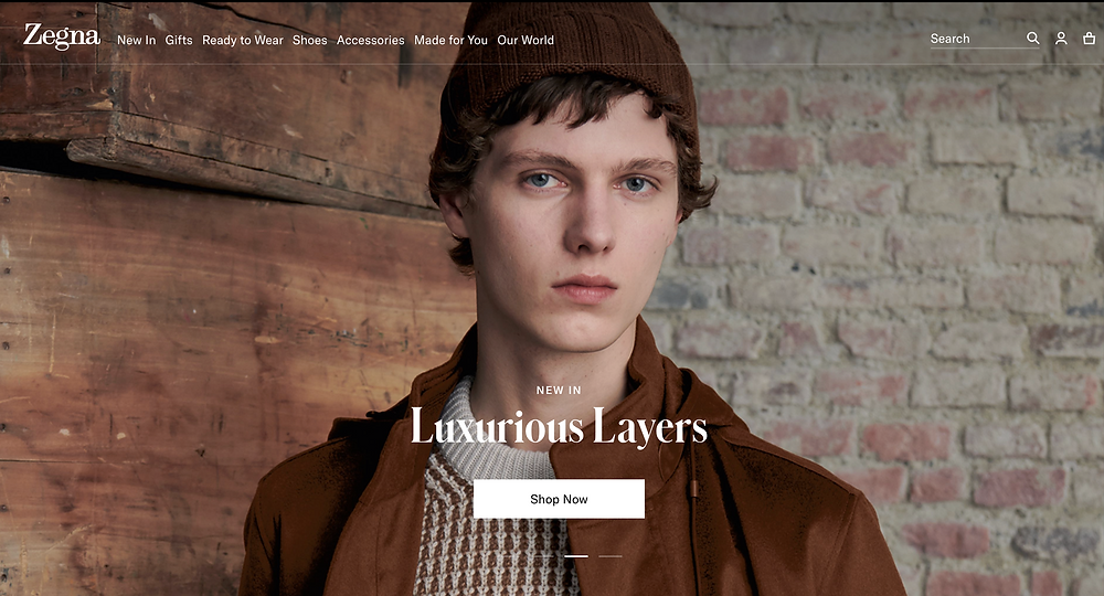 Zegna Homepage
