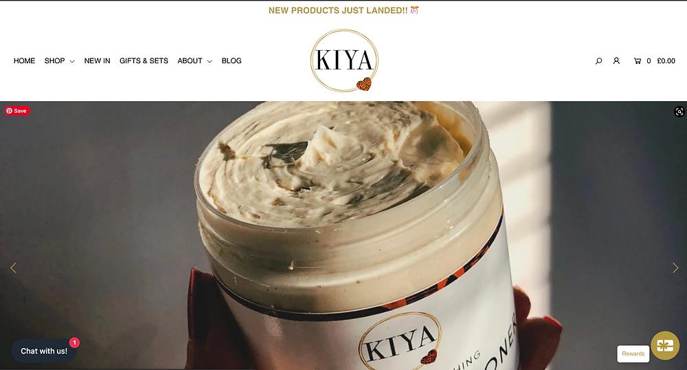 Kiya Cosmetics Homepage