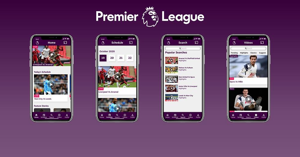Premier League App Design