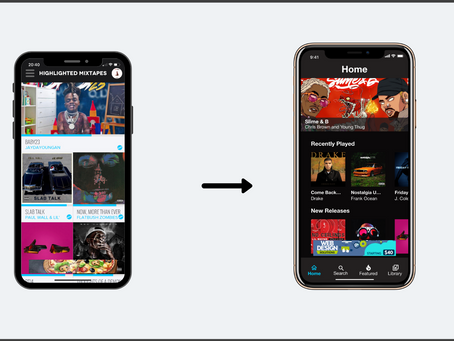 DatPiff Music App Redesign — UX Case Study