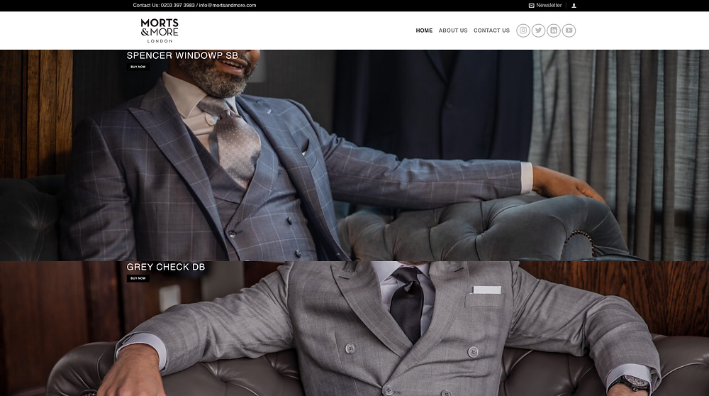 Morts & More Landing Page