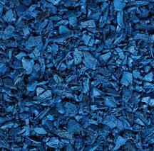 Blue Playground Color Mulch