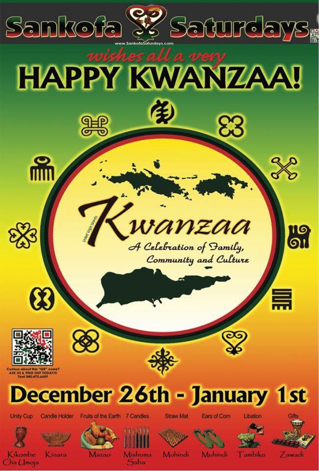 USVI Kwanzaa Week General Happy Kwanzaa Image (text provided under flyer)