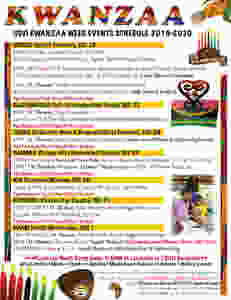 USVI Kwanzaa Week Events Flyer (text provided under flyer)