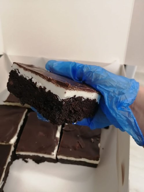 Gluten Free Peppermint Creme Topped Brownie