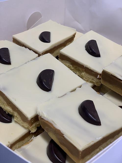 White Chocolate & Orange Millionaires Shortbread