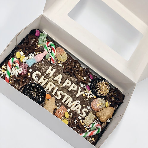 Festive Brownie Slab