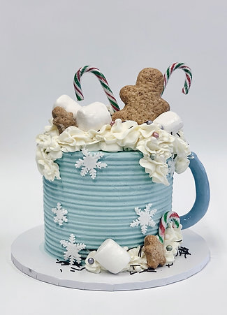 'Hot Chocolate' Christmas Cake