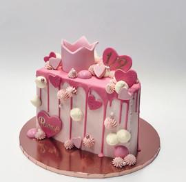 Pink 1/2 cake