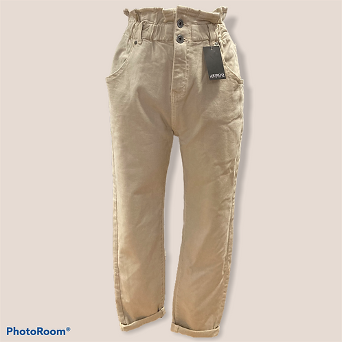 Jeans largo beige