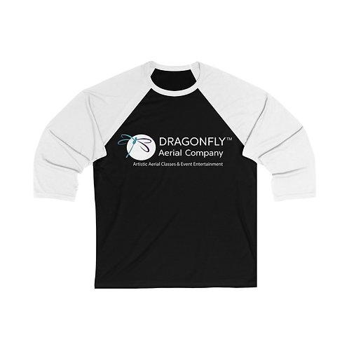 Dragonfly Aerial Company- Unisex 3/4 Sleeve Baseball Tee