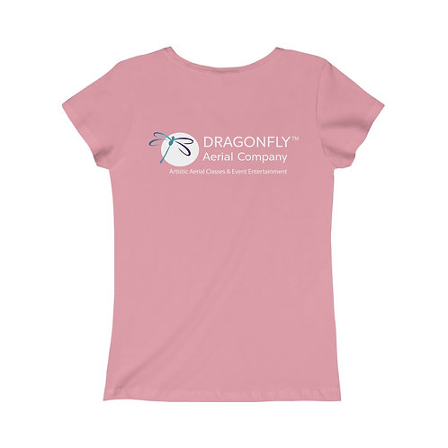 Dragonfly Aerial Company- Girls Princess Tee- Logo on Back