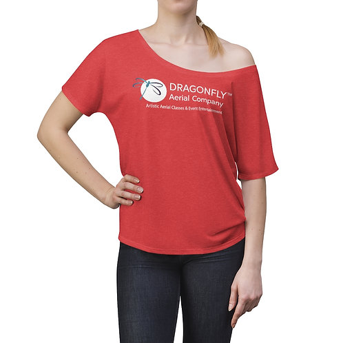 Dragonfly Aerial Company- Women's Slouchy top- Logo on Front