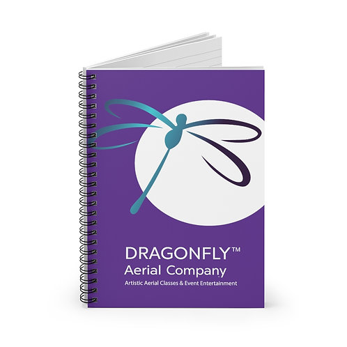 Dragonfly Aerial Company Moon- Spiral Notebook - Ruled Line