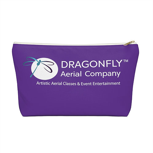 Dragonfly Aerial Company- Purple Accessory Pouch w T-bottom