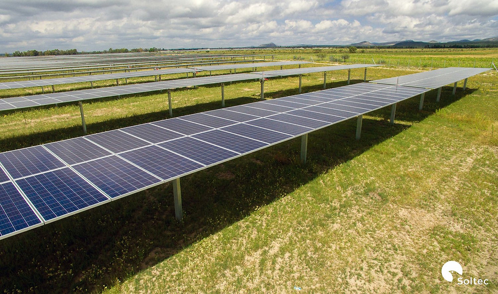 Solar panels that look like these could potentially be seen at two sites in Ogemaw County. COURTESY PHOTO