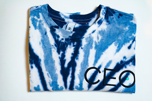 CEO Embroidery Tie Dye Shirt