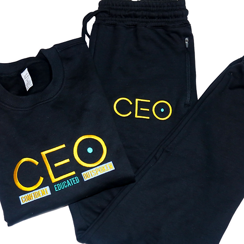 CEO. Embroidery Jogger Pant Set