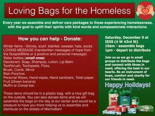 Loving Bag for the Homeless