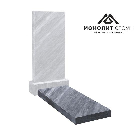 Надгробная плита из мрамора 100*45*4 см