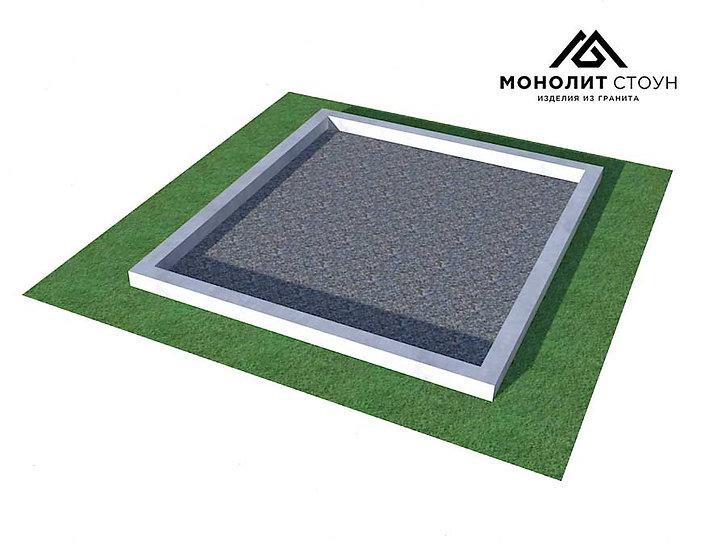 Заливной бордюр из бетона (сечение 10 см)