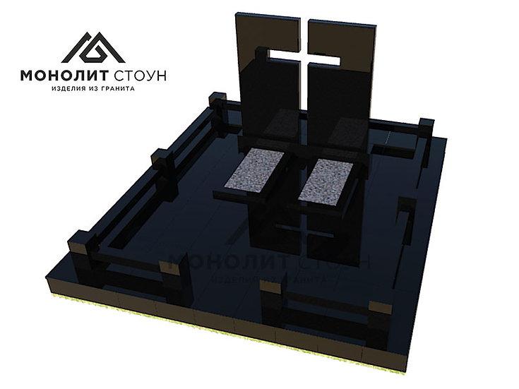 Надгробный комплекс из гранита №6