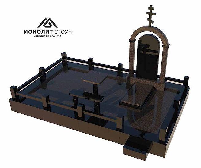 Надгробный комплекс из гранита №19