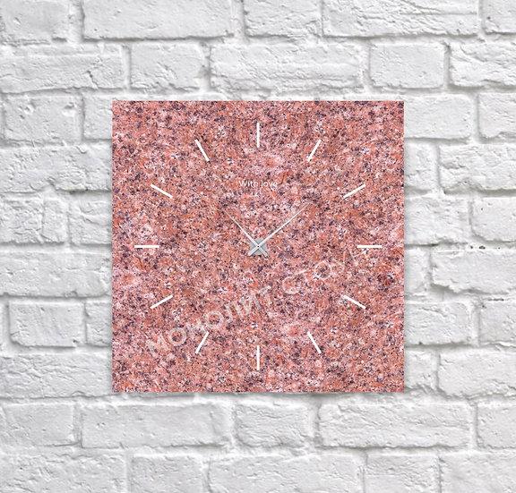Часы из красного гранита (30*30 см)