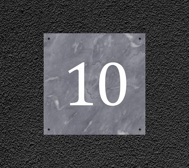 Табличка из мрамора 20х20 см