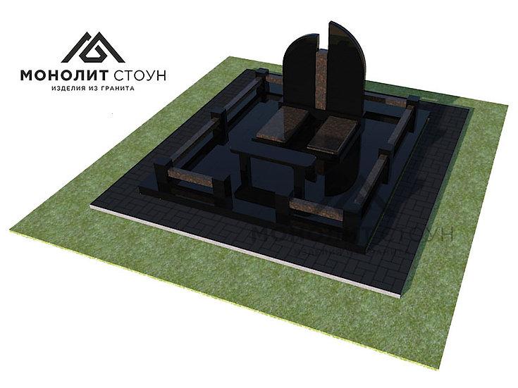 Надгробный комплекс из гранита №3
