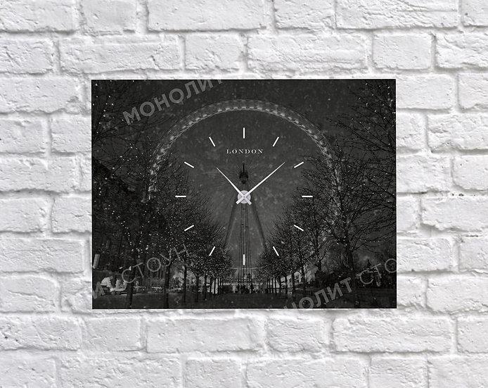 Часы из черного гранита (40*30 см)