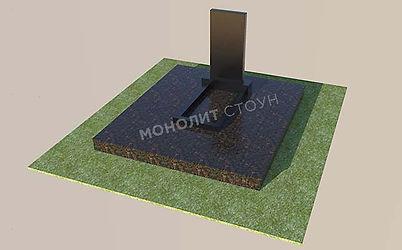 Гранитная плитка дымовская с памятником1