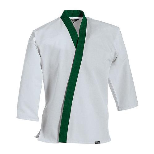 Green Trim Uniform Top